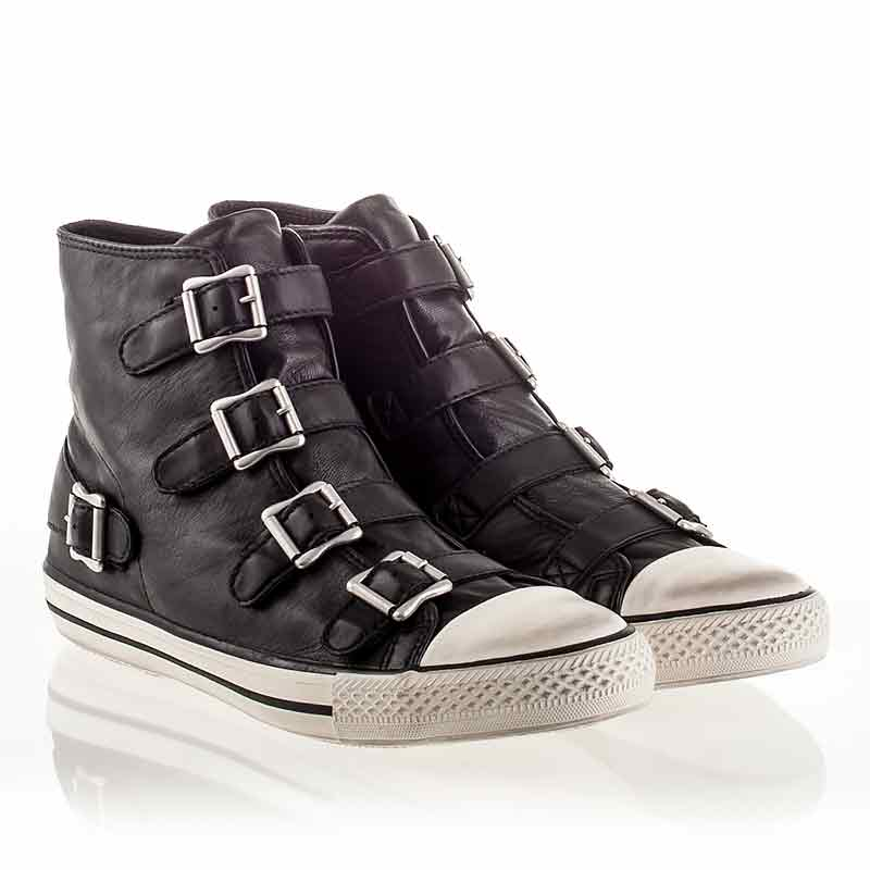 Ash  Vincent Mens Sneaker Black Leather 340289 (001)
