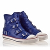 Ash Virgin Womens Sneaker Sapphire Leather 340031 (405)