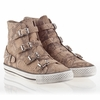 Ash Virginia Womens Sneaker Sand Snake Print Leather 340038 (268)