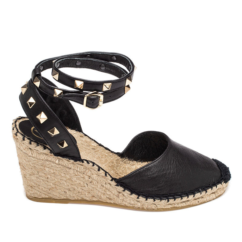 Ash Winona Womens  Black Leather Espadrille  360134  (001)