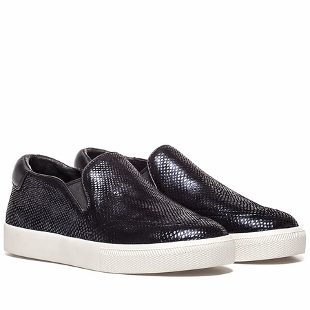 """<font size=""""2"""" color=""""red"""">NEW</font><p>Ash Womens Impuls Sneaker Midnight Black Snake Print Leather 350382 (411)"""
