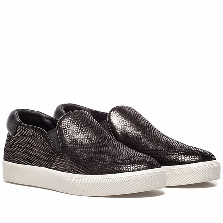 """<font size=""""2"""" color=""""red"""">NEW</font><p>Ash Womens Impuls Sneaker Steel Black Snake Print Leather 350382 (061)"""