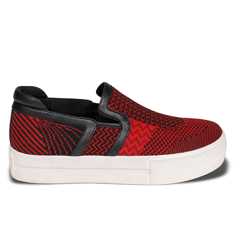Ash Womens Jeday Sneaker Red & Black Fabric 360012 (641)