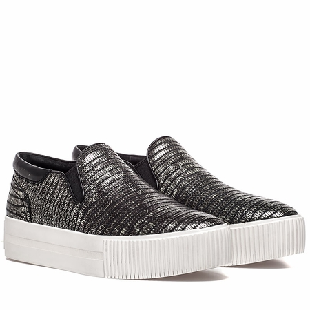"<font size=""2"" color=""red"">NEW</font><p>Ash Womens Karma Sneaker Antik Nickel Black Snake Print Leather 350412 (070)"