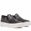 Ash Womens Karma Sneaker Antik Nickel Black Snake Print Leather 350412 (070)