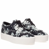 Ash Womens Krush Sneaker Black Floral Snake Print Leather 350316 (001)
