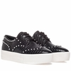 "<font size=""2"" color=""red"">NEW</font><p> Ash Womens Krush Sneaker Black Snake Print Leather 350431 (001)"
