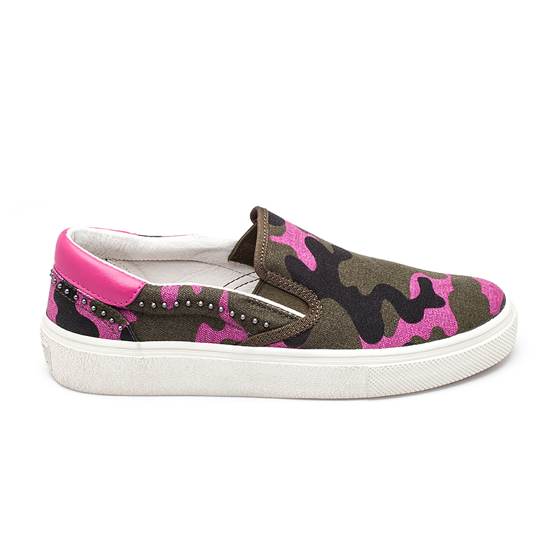 Ash Womens Nikita Sneaker Pink Army Camouflage Canvas 360100 (680)