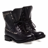 Ash Womens Ralph Lace Up Boot Black Snake Print Leather 350319 (981)