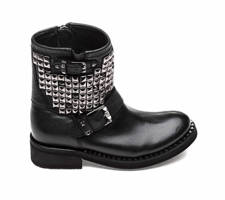 Ash Womens Touch Boot Black Antique Gun Leather 360374 (967)