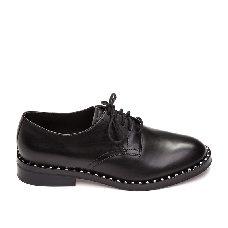 Ash Wonder Womens Oxford Black Leather 360284 (001)