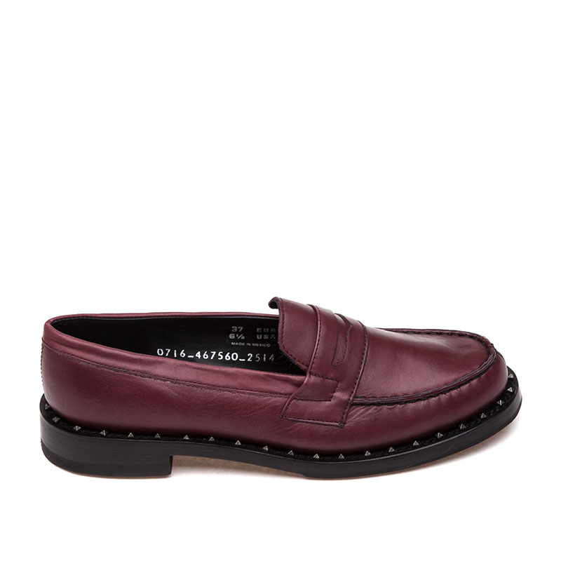 Ash Xenos Bis Womens Loafer Bordeaux Leather 360375 (602)