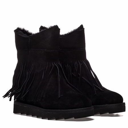 """<font size=""""2"""" color=""""red"""">NEW</font><p>Ash Yago Womens Wedge Boot Black Suede 350523 (002)"""