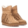 Ash Yago Womens Wedge Boot Natural Light Camel Suede 350524 (108)