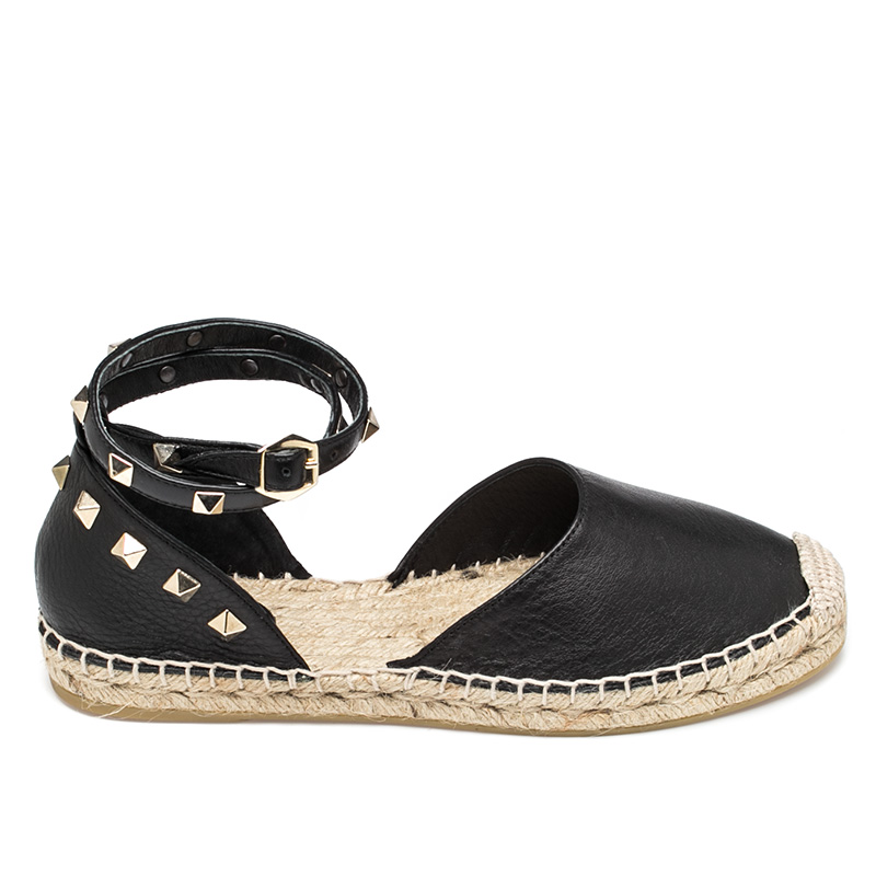 Ash Zania Womens  Black Leather Espadrille  360176 (001)