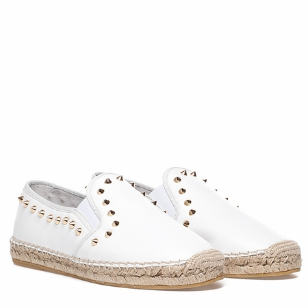 Ash  Zest Womens White Leather Espadrille 350224 (110)