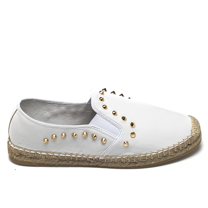 Ash Zest Womens White Leather Espadrille  360121  (100)