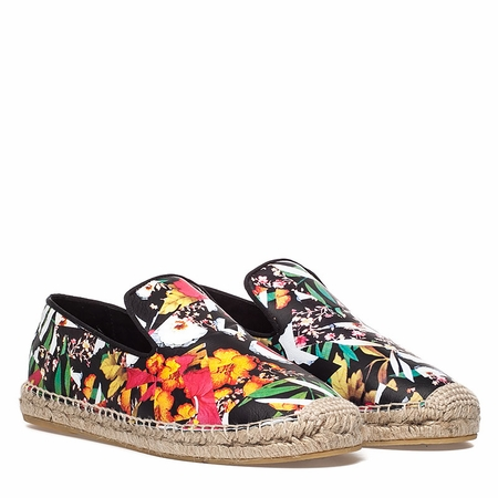 Ash  Zoe Womens  Floral Multi Print Leather Espadrille 350279 (983)