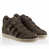 Ash Zoo Womens Sneaker Military  Suede 330334  (350)