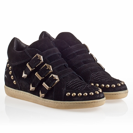 Ash Zoo Womens Sneaker Black  Suede 330334  (001)
