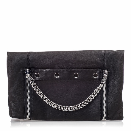 Ash Zowie Womens Clutch Black Leather 124091 (001)
