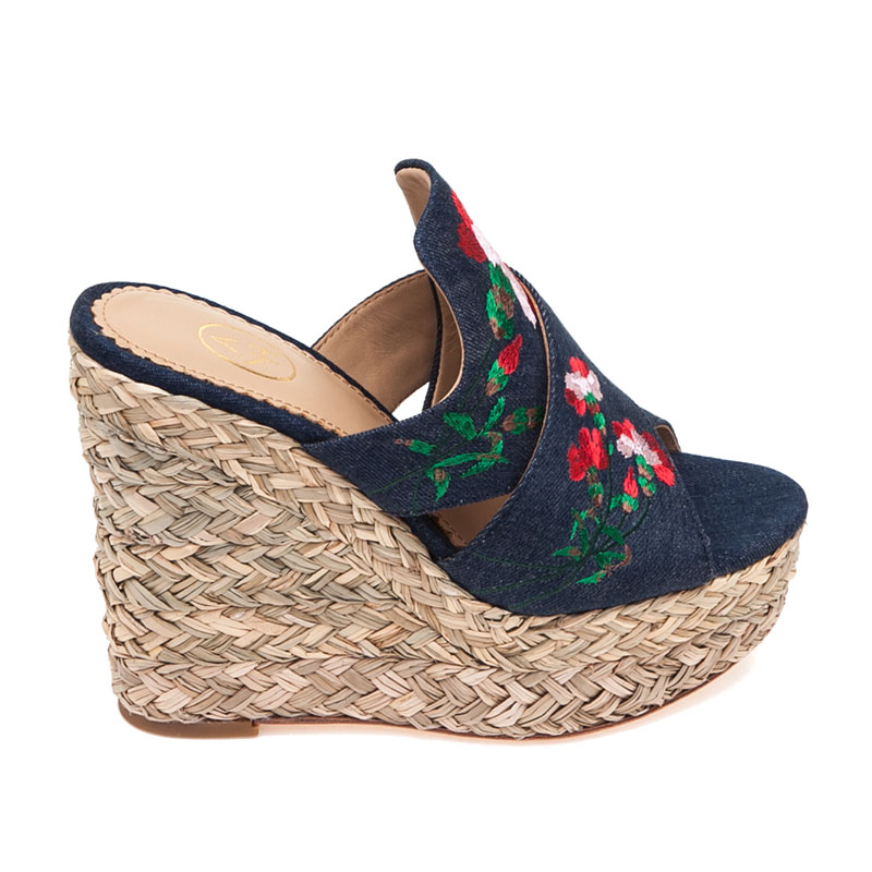 Bahia Blue Denim Mule