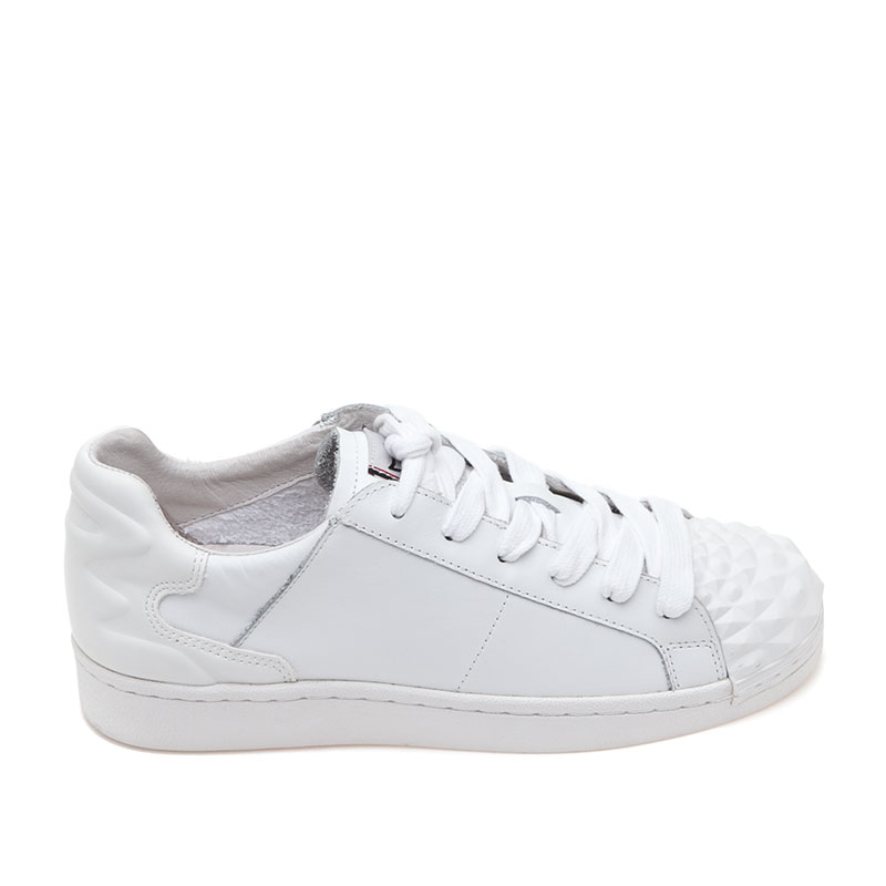 Crack White Leather Sneaker