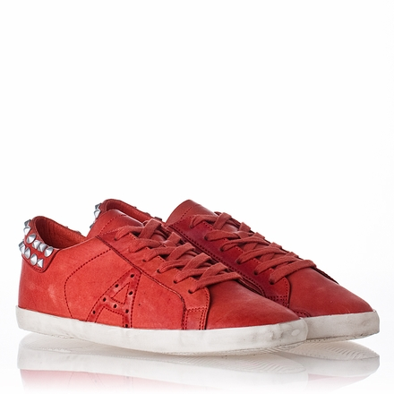 Ash Spot Mens Sneaker Coral Leather 312029