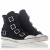 Ash  Vincent Bis Mens  Sneaker Black Denim 312030