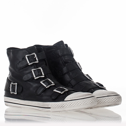 Ash  Vincent Mens Sneaker Black Leather 312032