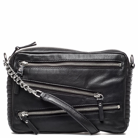 Ash Angel Womens Crossbody Handbag Black Leather  125081 (001)