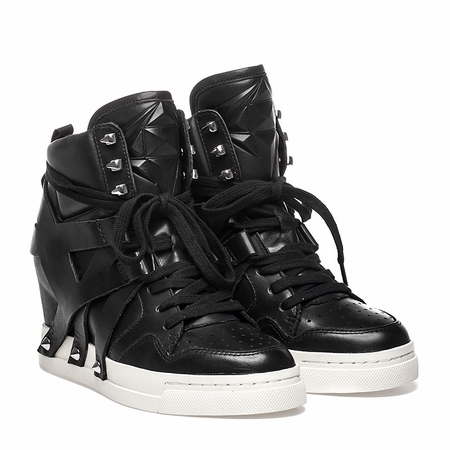 "<font size=""2"" color=""red"">NEW</font><p>Ash Call Womens Hi Top Sneaker Black Leather  350638 (964)"