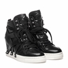Ash Call Womens Hi Top Sneaker Black Leather  350638 (964)