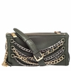 Ash Domino Womens Chain Crossbody Handbag Army Green Leather  125067 (340)