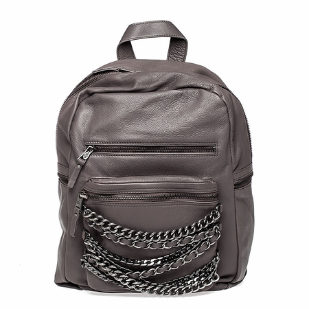 Ash Domino Womens Chain Small Backpack Elephant Nappa Leather  125071 (026)
