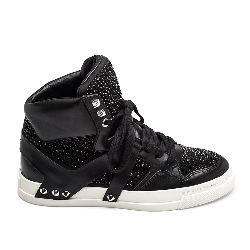Ash Eden Hi Top Sneaker Black Leather  350662 (002)