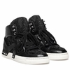 "<font size=""2"" color=""red"">NEW</font><p>Ash Eden Hi Top Sneaker Black Leather  350662 (002)"