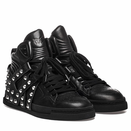 Ash Enjoy Hi Top Sneaker Black Leather  350643 (002)