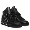 "<font size=""2"" color=""red"">NEW</font><p>Ash Enjoy Hi Top Sneaker Black Leather  350643 (002)"
