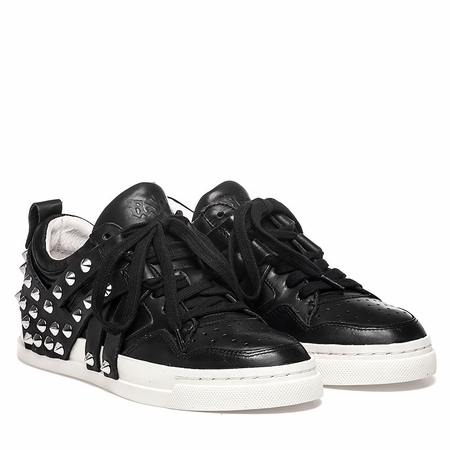 "<font size=""2"" color=""red"">NEW</font><p>Ash Extra Sneaker Black Leather  350644 (002)"