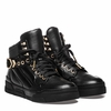 Ash Flash Bis Hi Top Sneaker Black Leather  350367 (001)