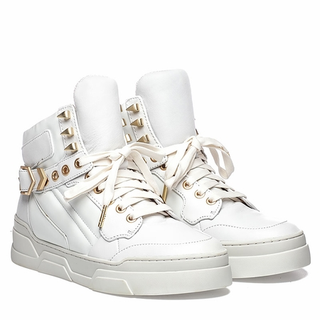 Ash Flash Bis Hi Top Sneaker White Leather  350370 (100)