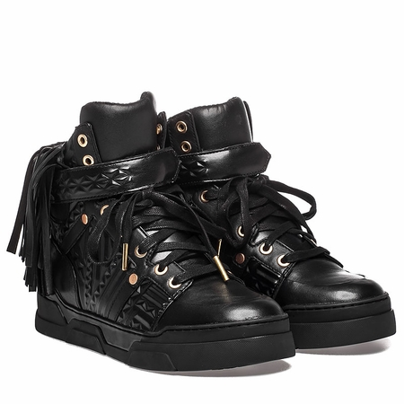 Ash Funky Hi Top Sneaker Black Leather  350371 (002)