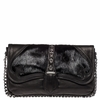 Ash Iggy Womens Clutch Handbag Black Nappa and Hair Calf Leather  125098 (002)