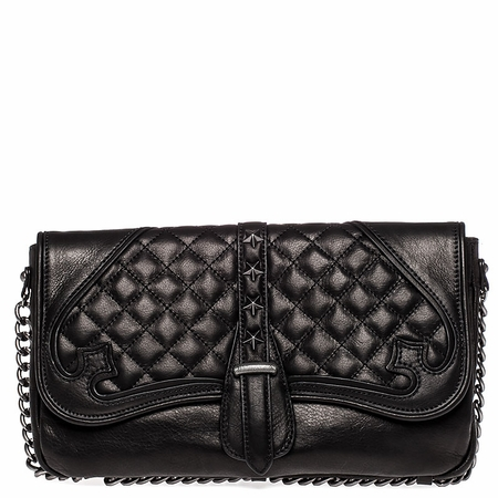 "<font size=""2"" color=""red""> NEW</font><p>Ash Iggy Womens Clutch Hand Bag Black Nappa Leather  125095 (001)"