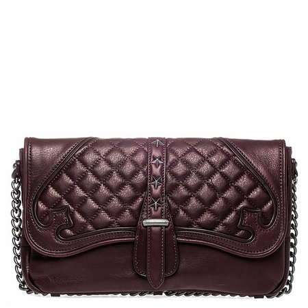 Ash Iggy Womens Clutch Handbag Dark Wine Nappa Leather  125095 (641)