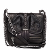 Ash Iggy Womens Crossbody Handbag Black Haif Calf and Nappa Leather  125099 (002)