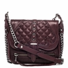 Ash Iggy Womens Crossbody Handbag Dark Wine Nappa Leather  125096 (641)