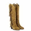 """<font size=""""2"""" color=""""red""""> NEW</font><p>Ash Imala  Womens Fringe Boot Camel Suede 350646 (266)"""