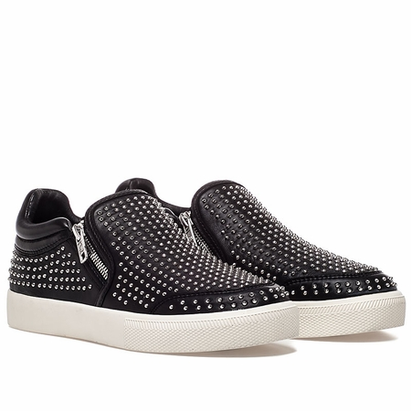 Ash Iman Womens Slip On Sneaker Black Leather 350351 (002)